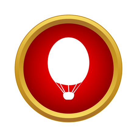 Air balloon icon in simple style on a white background Illustration