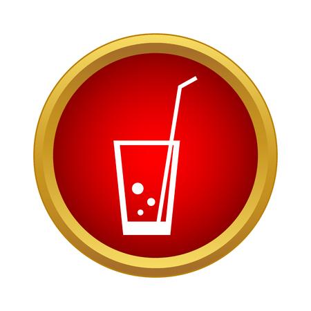 Cocktail pictogram in eenvoudige stijl op een witte achtergrond