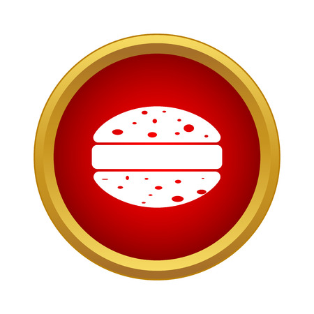 Hamburger icon in simple style on a white background Illusztráció