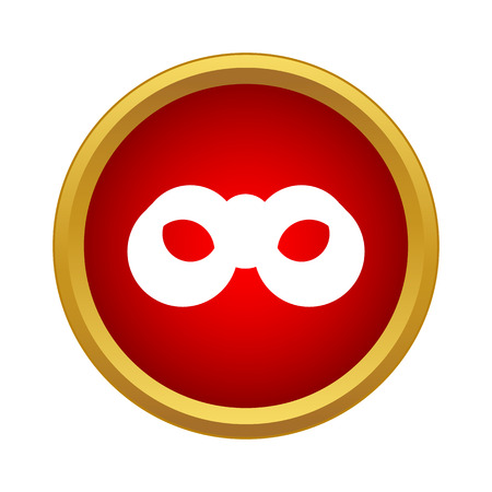 Professional binoculars icon in simple style in red circle. Accessory symbol Illustration