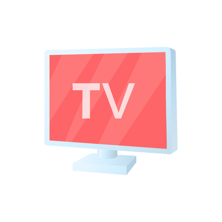 TV screen icon in cartoon style on a white background