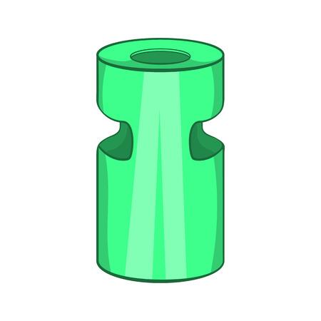 Trash ashtray icon in cartoon style isolated on white background. Garbage symbol