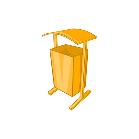 Dustbin for public spaces icon in cartoon style isolated on white background. Garbage symbol Illustration