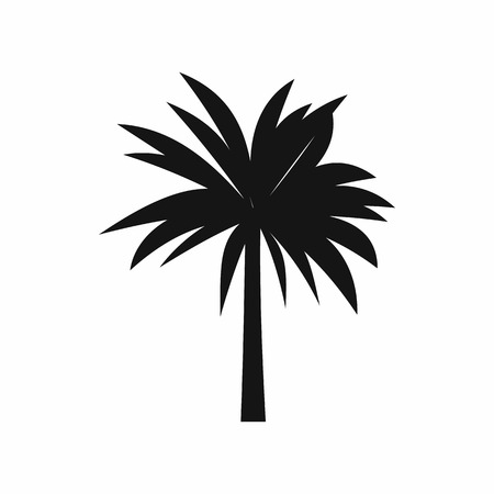 Palm icon in simple style isolated vector illustration