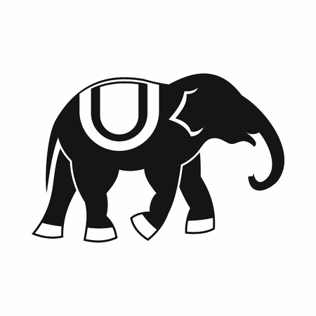 Elephant icon in simple style isolated vector illustration