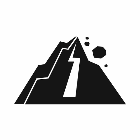 Rockfall icon in simple style isolated vector illustration  イラスト・ベクター素材