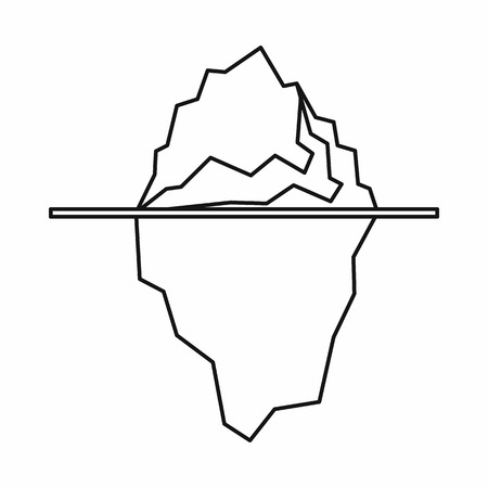 Iceberg icon in outline style isolated vector illustration Ilustrace