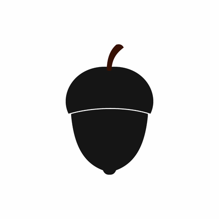 Acorn icon in simple style isolated vector illustration Ilustrace