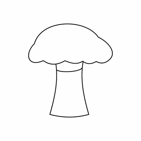 Mushroom icon in outline style isolated vector illustration Illustration