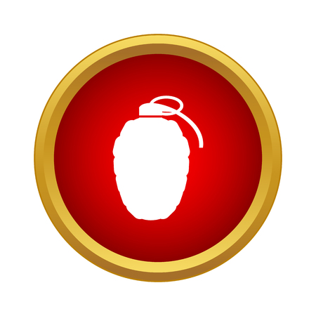 munition: Grenade icon in simple style on a white background