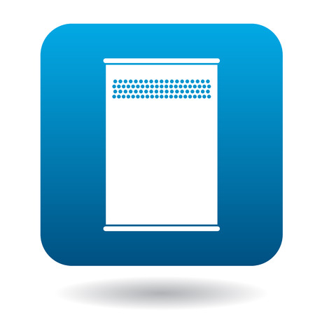 bin tub: Outdoor bin icon in simple style on a white background Illustration