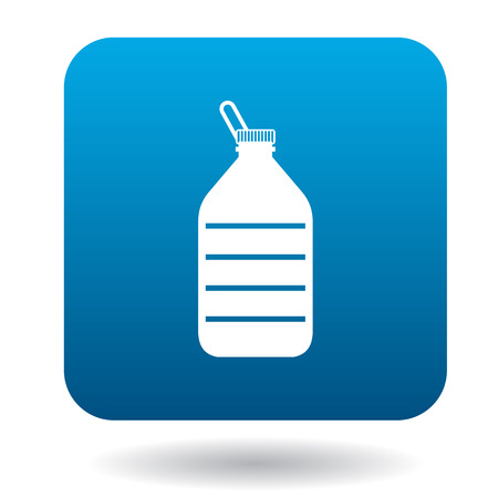 discarded: Used plastic bottle icon in simple style on a white background