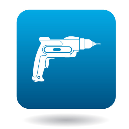 pneumatic: Hand drill icon in simple style on a white background