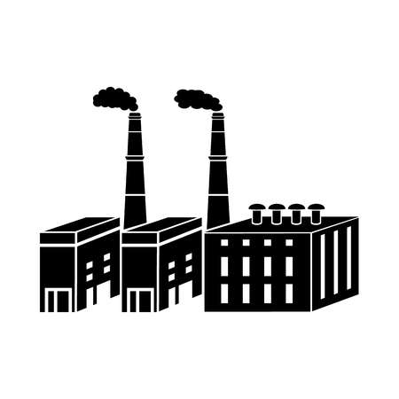 chemical plant: Large chemical plant icon in simple style isolated on white background. Chemistry symbol Illustration