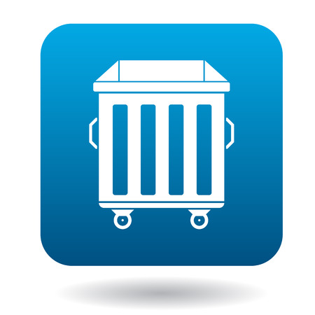segregate: Garbage container icon in simple style on a white background
