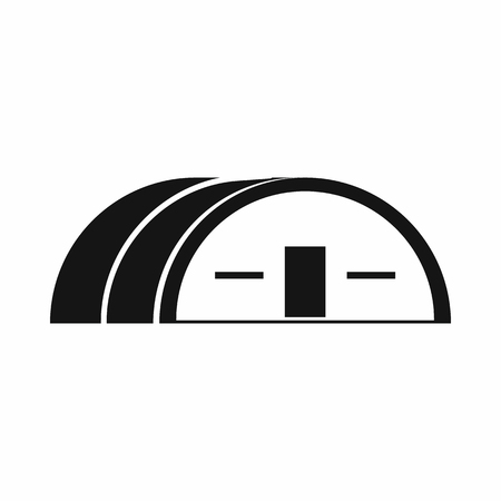 hangar: Large hangar icon in simple style. Building symbol isolated vector illustration Illustration