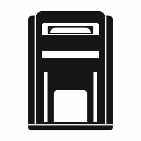 await: Square post box icon in simple style isolated vector illustration Illustration