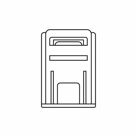 await: Square post box icon in outline style isolated vector illustration Illustration