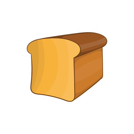 crusty: Bread icon in cartoon style on a white background Illustration