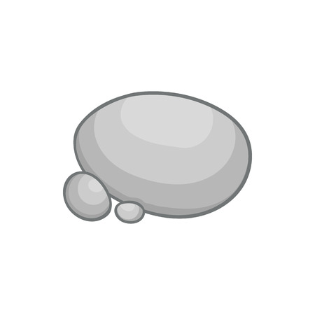 Gray stones icon in cartoon style on a white background