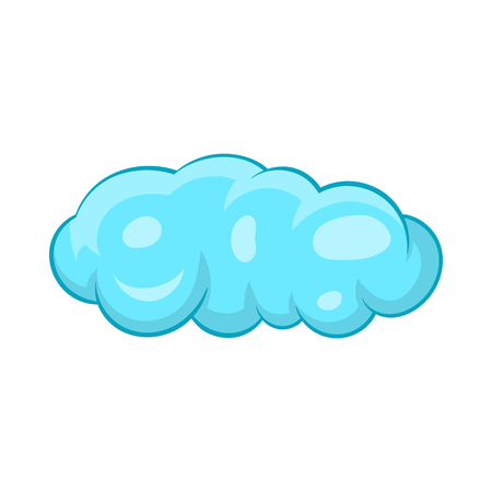 is cloudy: Cloud icon in cartoon style on a white background