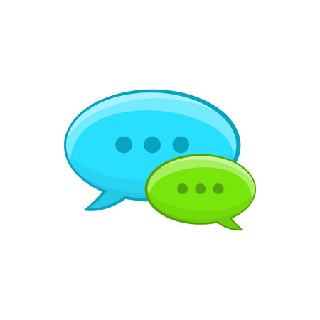 communication cartoon: Speech bubble conversation icon in cartoon style isolated on white background. Communication symbol Illustration