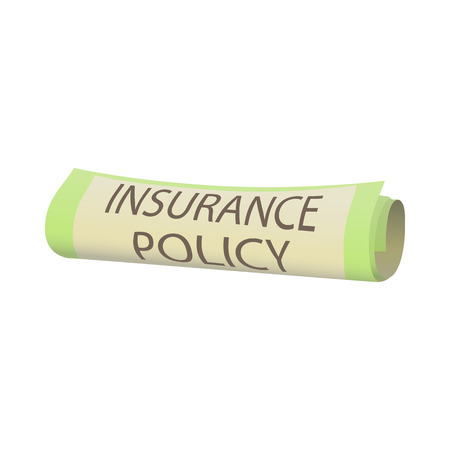 insurance policy: Insurance policy icon in cartoon style isolated on white background. Certificate symbol
