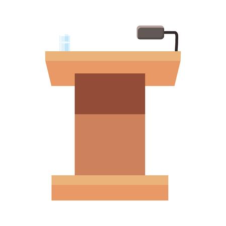tribune: Tribune for speech icon in cartoon style isolated on white background Illustration