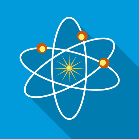 sectoral: Orbital sectoral fields of the planets as they move around the Sun icon in flat style on a sky blue background Illustration