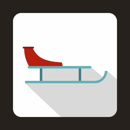 Sled icon in flat style on a white background Illustration