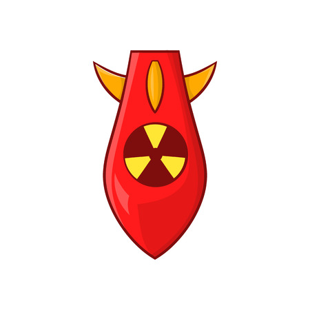 warhead: Nuclear warhead icon in cartoon style isolated on white background. Explosion symbol