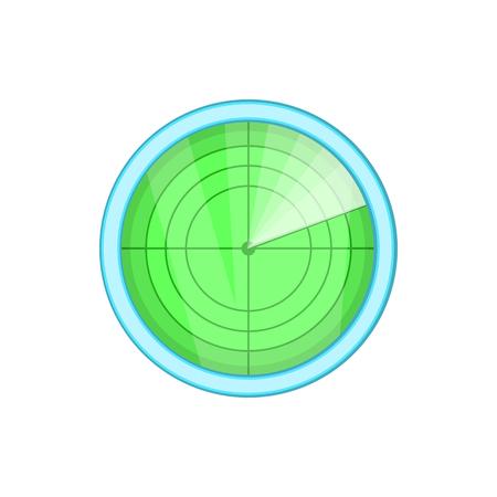 blip: Radar icon in cartoon style isolated on white background. Installation symbol
