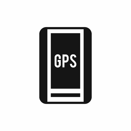 global positioning system: Global Positioning System icon in simple style isolated vector illustration
