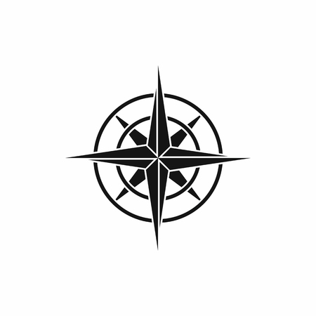 Ancient compass icon in simple style isolated vector illustration