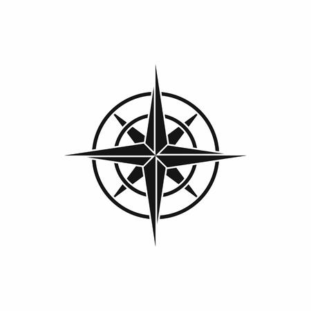 brujula antigua: icono de br�jula antigua en la ilustraci�n vectorial aislado estilo sencillo