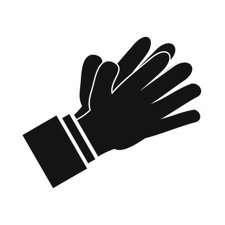 applauding: Clapping applauding hands icon in simple style isolated vector illustration Illustration