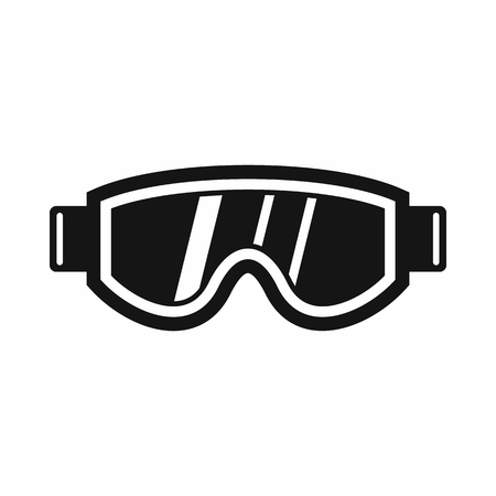 protective eyewear: Skiing mask icon in simple style isolated vector illustration
