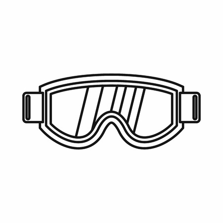 eyewear fashion: Skiing mask icon in outline style isolated vector illustration