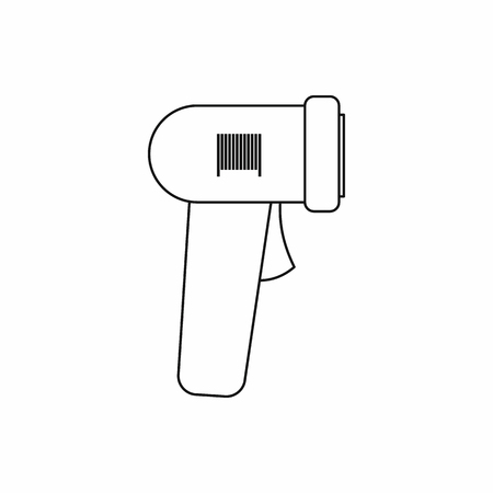 barcode scanner: Barcode scanner icon in outline style isolated vector illustration Illustration
