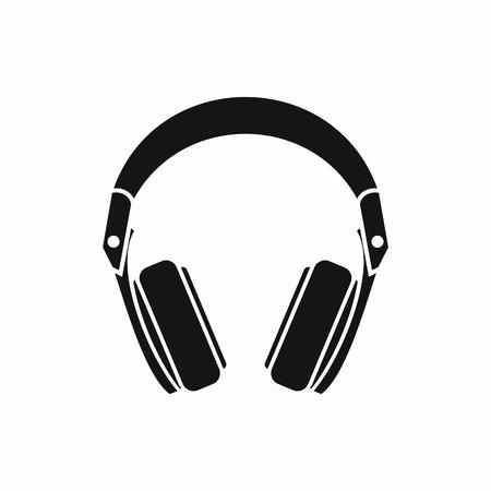 Headphones icon in simple style isolated vector illustration Stock Illustratie