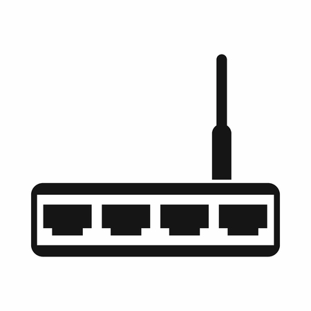 adsl: Router icon in simple style isolated vector illustration
