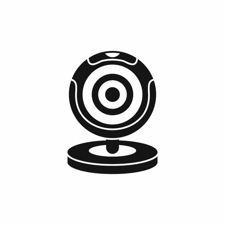 telecommunications equipment: Webcam icon in simple style isolated vector illustration Illustration