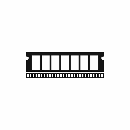 DVD RAM module for the personal computer icon in simple style isolated vector illustration