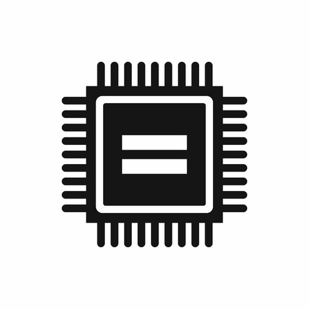 electronic board: Electronic circuit board icon in simple style isolated vector illustration