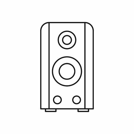 sound speaker: Black sound speaker icon in outline style isolated vector illustration