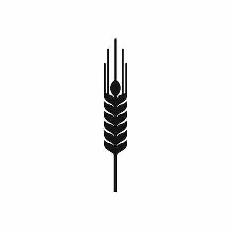Stalk of ripe barley icon in simple style isolated vector illustration
