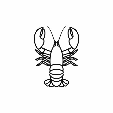 Crayfish icon in outline style isolated vector illustration Illustration