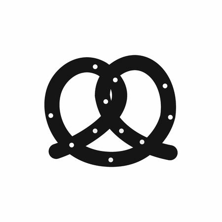 bretzel: Pretzel icon in simple style isolated vector illustration
