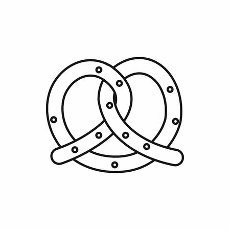 bretzel: Pretzel icon in outline style isolated vector illustration Illustration