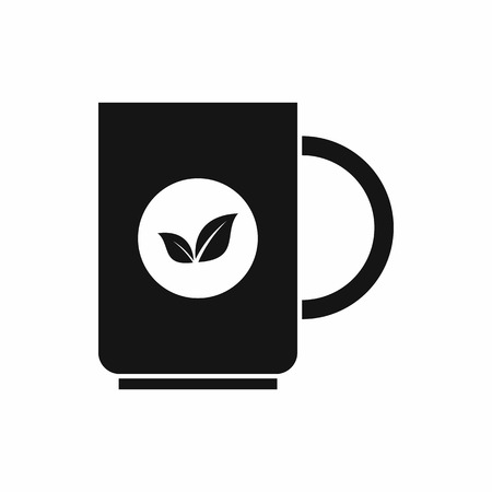 ENT: Cup of tea icon in simple style isolated vector illustration Illustration